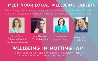 Wellness in Nottingham- Wellbeing showcase